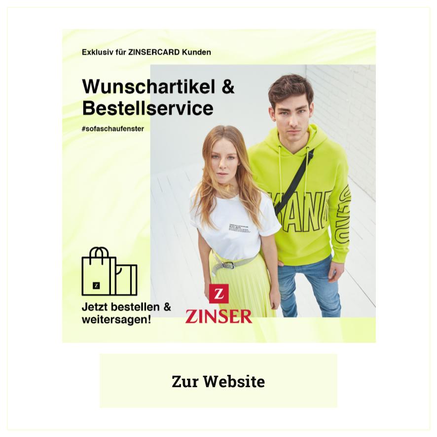 Eintrag Modehaus Zinser Herrenberg