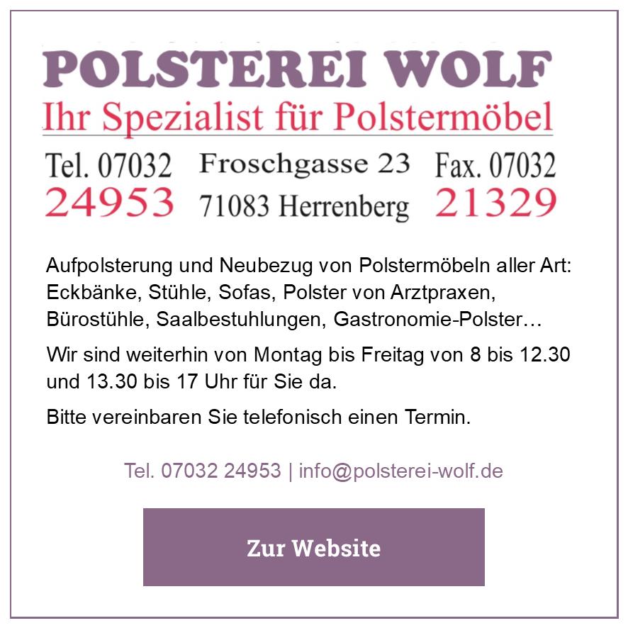 Eintrag Polsterei Wolf