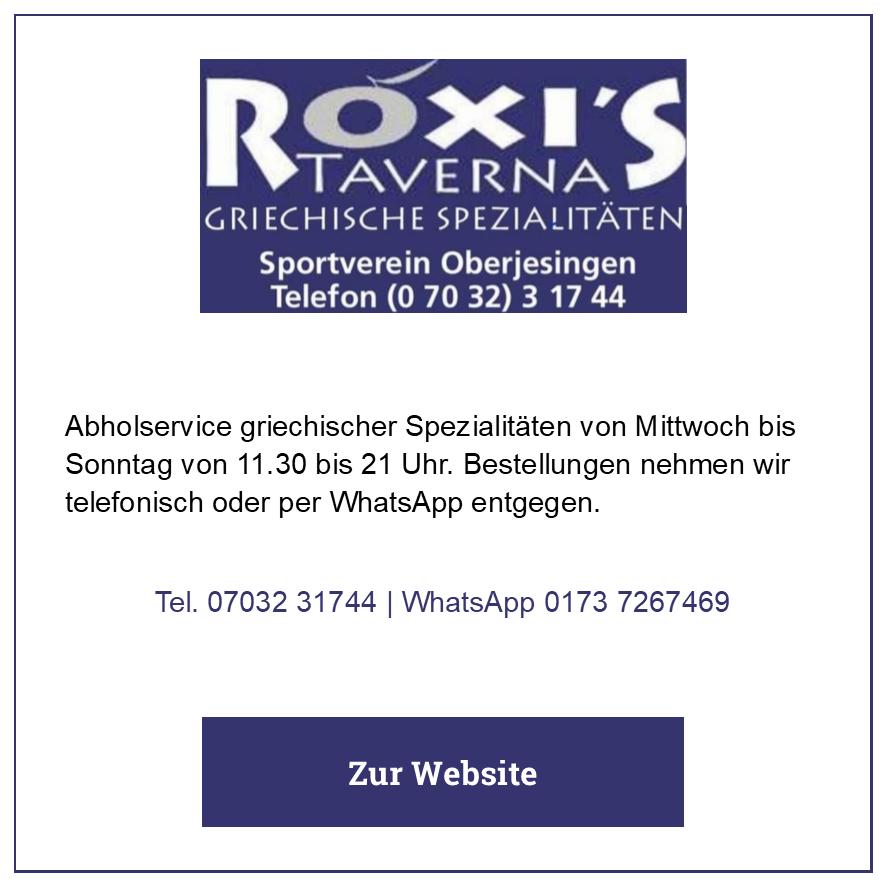 Eintrag Roxis Taverna