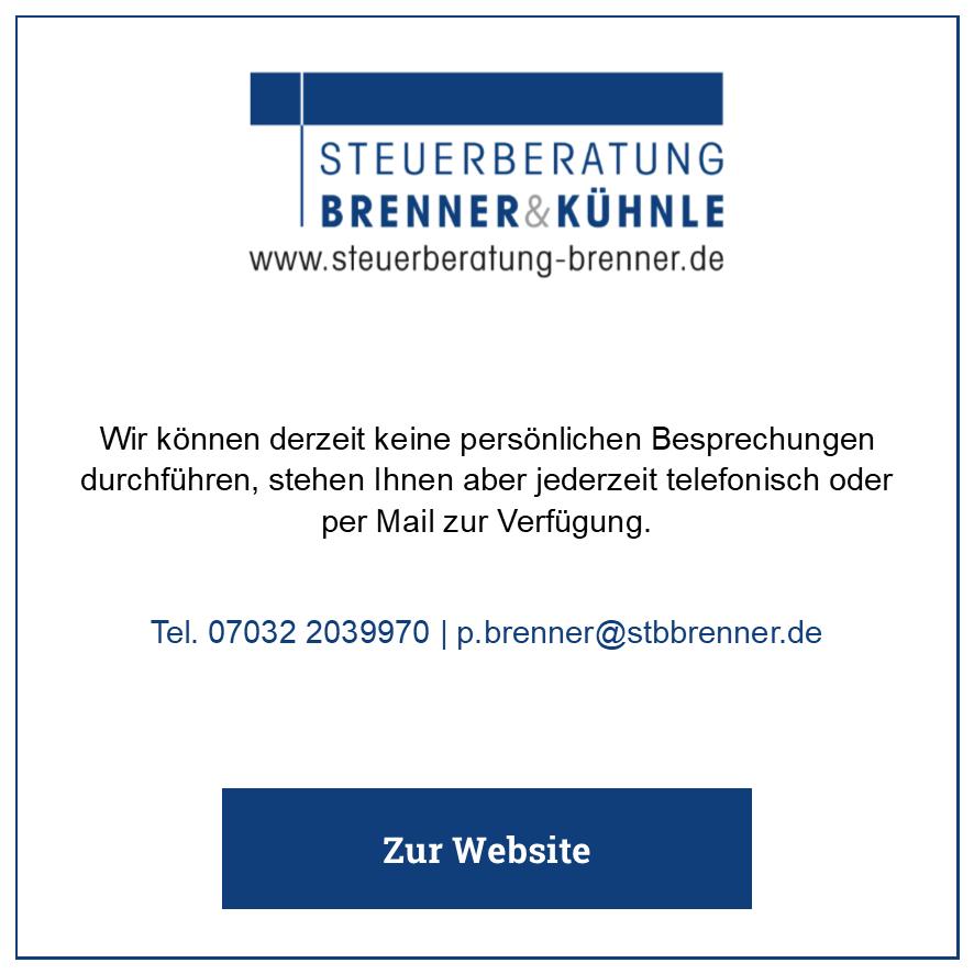 Eintrag Steuerberatung Brenner & Kühnle