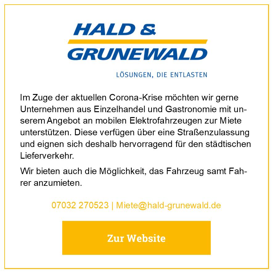 Eintrag Hald Grunewald