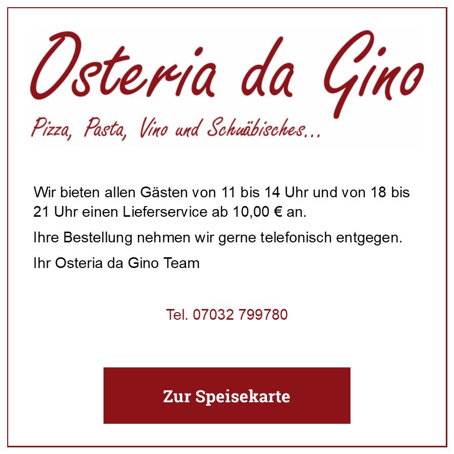 Eintrag Osteria da Gino