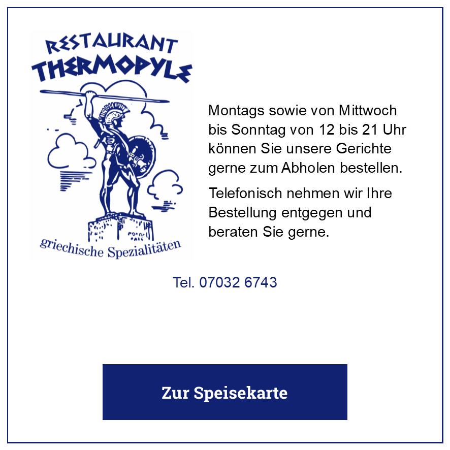Eintrag Restaurant Thermopyle