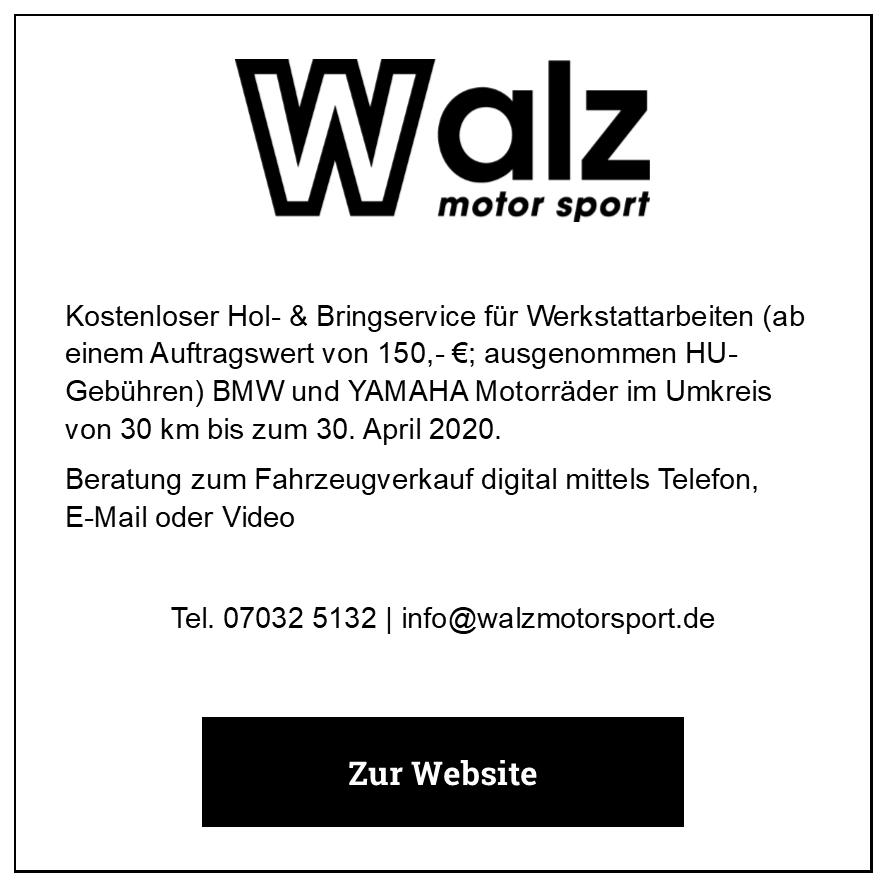 Eintrag walz motor sport GmbH
