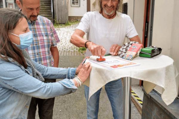Ziehung Gewinner Baustellen-Bonuskarte im Weltladen